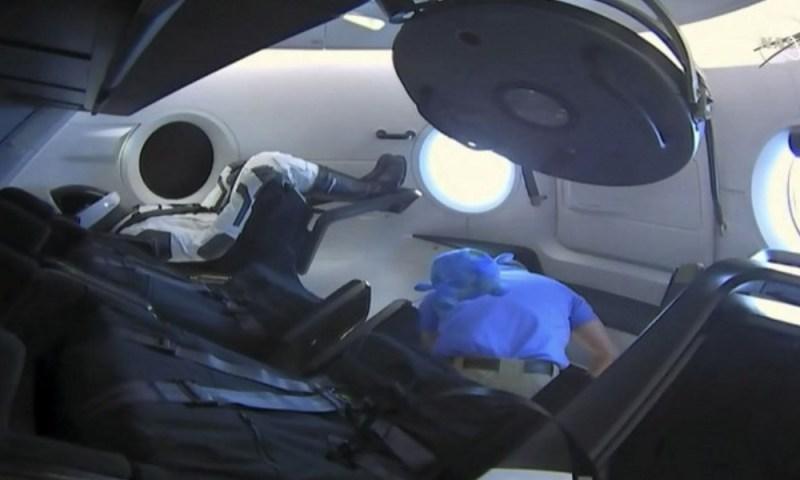Misión exitosa: el Crew Dragon llegó a la Estación Espacial Internacional SpaceX-lanz%C3%B3-el-Crew-Dragon