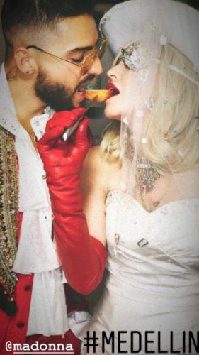 Madonna y Maluma publicarán su canción a dueto esta semana Maluma-Madonna-IG-Stories-281x500