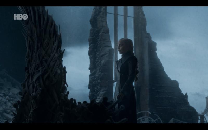 """Sexto capítulo de la última temporada de 'Game of Thrones': """"The Iron Throne"""" Dany-trono-"""
