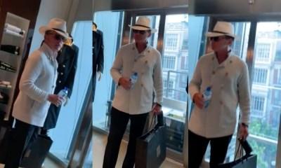 Luis Miguel reapareció de compras