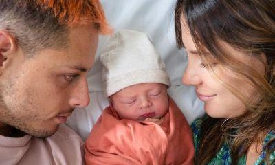 Nació el hijo de 'Chicharito' y Sarah Kohan