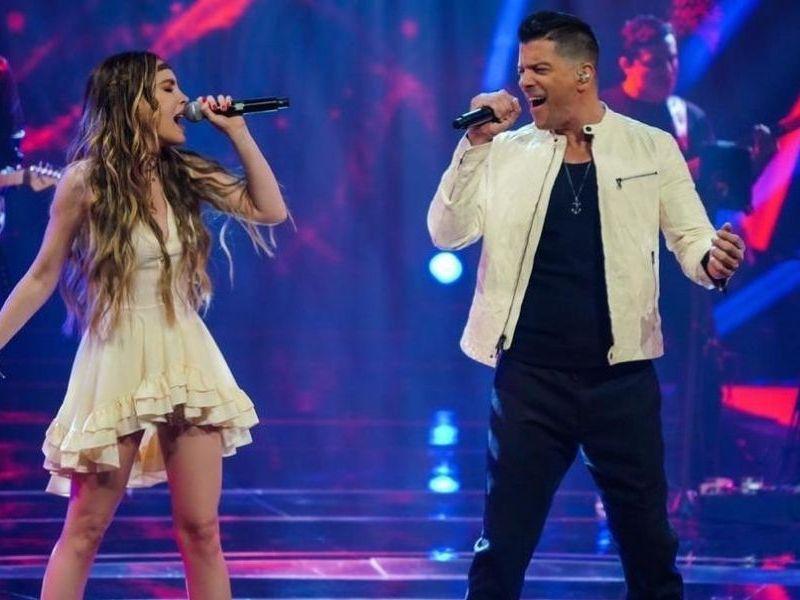 Belinda y Yahir cantaron juntos