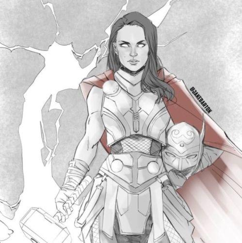 Así se vería Natalie Portman como 'Thor' 20190724_115606447404-thor-629x630-499x500