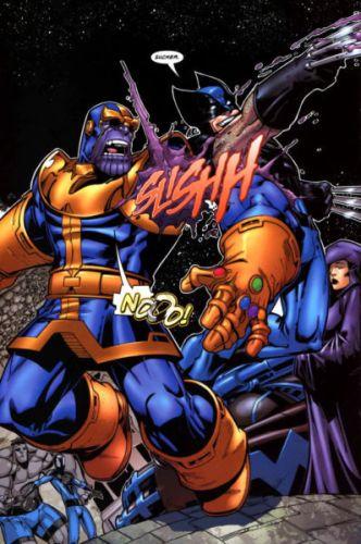 ¿Qué pasaría en una batalla entre Thanos vs Wolverine? 1038209-clawsbeatguantlet-332x500