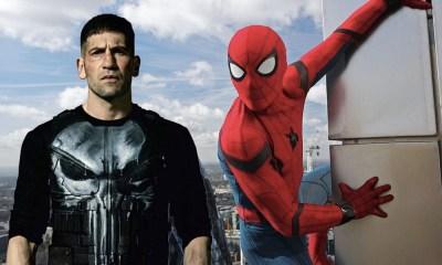 Spider-Man vestido de Punisher