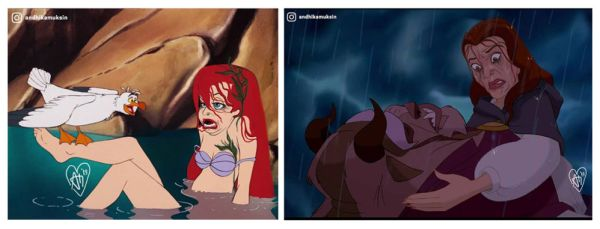 """Así se ven las princesas de Disney convertidas en """"mujeres reales"""" el-artitsa-disney-que-se-volvio-viral-600x229"""