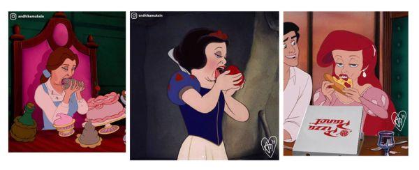"""Así se ven las princesas de Disney convertidas en """"mujeres reales"""" princesas-disney-en-la-realidad3-600x244"""