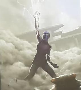 nebula moría haciendo el chasquido con el guantelete