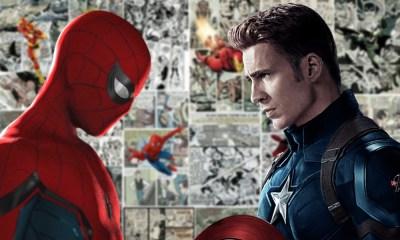 Spider-Man choca con Captain America