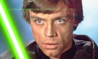 lightsaber verde de Luke en la nueva trilogía de Star Wars