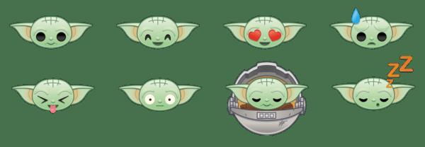 Disney revela el diseño de los nuevos emojis de baby Yoda emojis-de-mandalorian-1-600x208