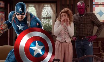 escudo de Captain America en el set de Wandavision