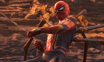 traje de viaje en el tiempo de Spider-Man en Endgame