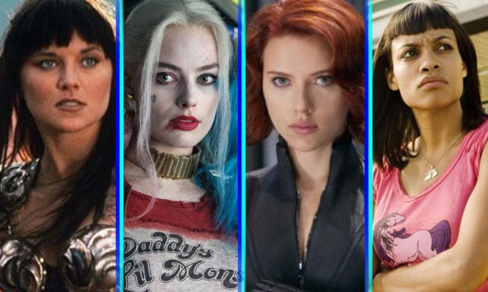 Black Widow y Harley Quinn pelean en un inesperado crossover junto a otras heroínas