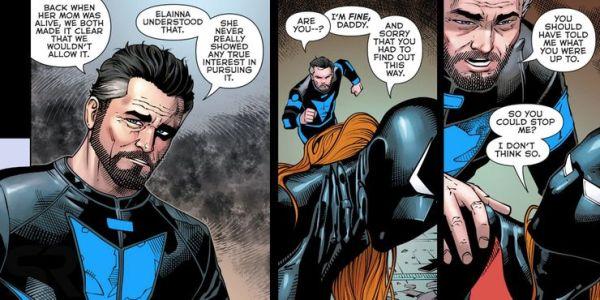 Al fin debutará Nightwing en 'Batman Beyond' nightwing-and-daughter-in-batman-beyond-600x300