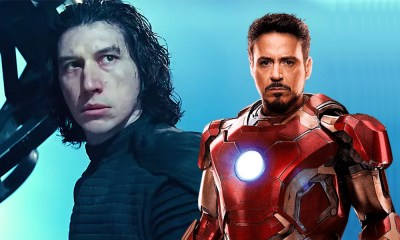 Iron Man peleando contra Kylo Ren