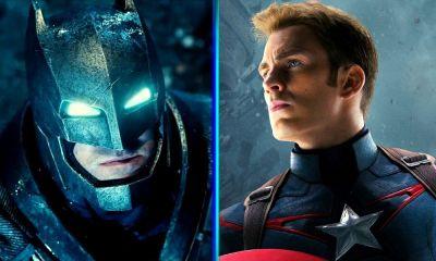 pelea entre Captain America y Batman