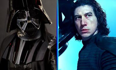 pelea entre Darth Vader y Kylo Ren