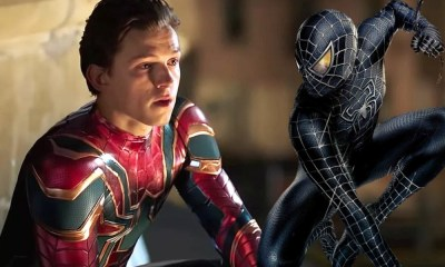 Fan art del traje negro de Spider-Man en 'Secret Wars'