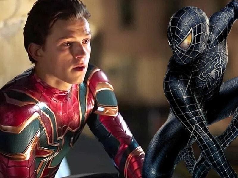 Fan art del traje negro de Spider-Man en 'Secret Wars'