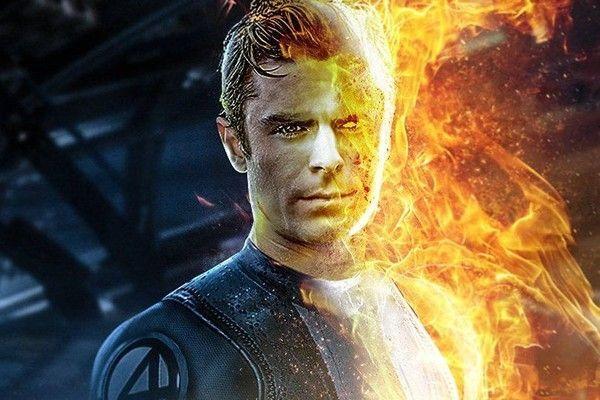 ¿Al MCU o al DCEU? Así se vería Zac Efron con trajes de superhéroes zac-efron-human-torch-2