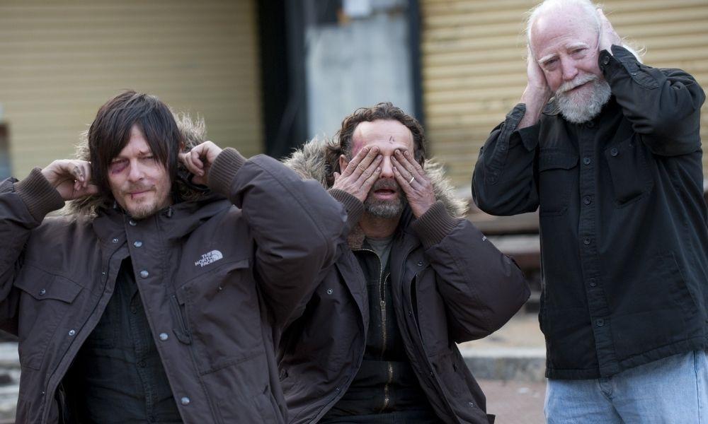 Andrew Lincoln hacía travesuras en el set de Walking Dead
