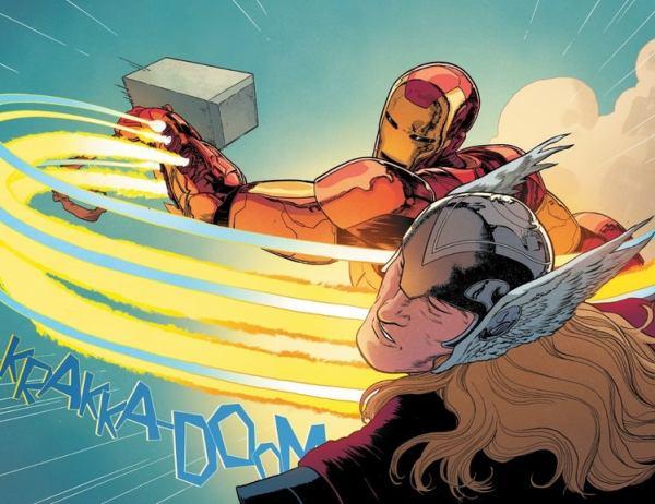 ¿Ya es digno? Otro Avenger fue digno de levantar el martillo de Thor thor-8-iron-man-mjolnir-3-1240402-600x462