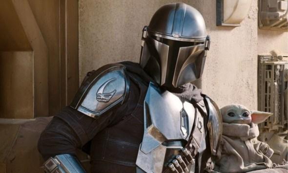 Mando y Grogu en unas películas de 'Star Wars'