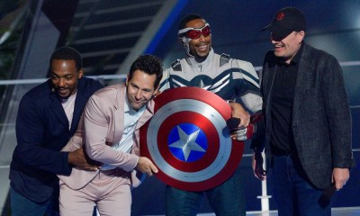 Anthony Mackie estuvo en la apertura de Avengers Campus