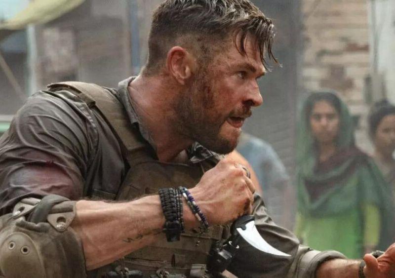 entrenamiento de Chris Hemsworth para 'Extraction 2'