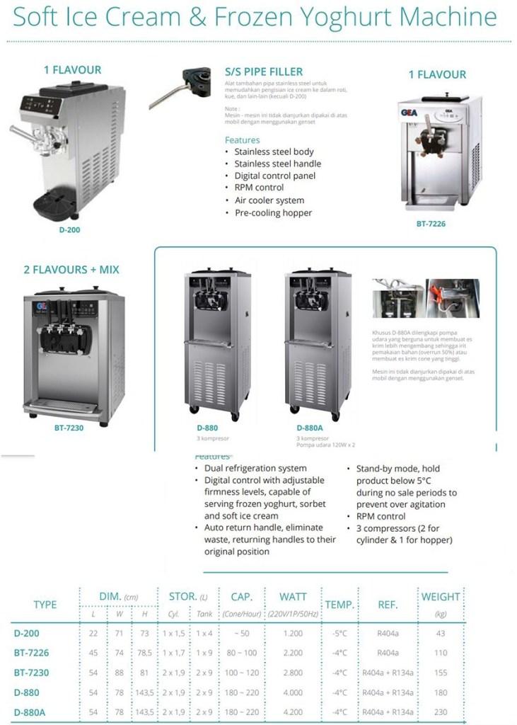 mesin ice cream gea