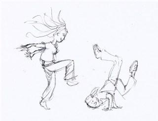 erste Skizzen für ein Tanzbuch 1