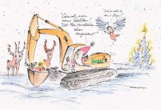 Weihnachtscartoon für Bauunternehmen 1