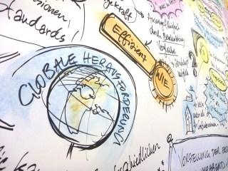 Graphic Recording einer wissenschaftlichen Diskussion in Stuttgart 1