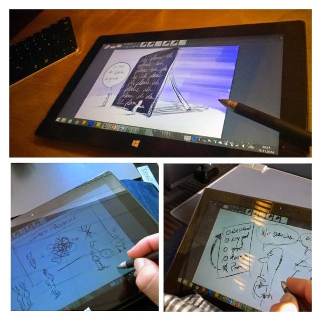 Visualisierung eines Weihnachtsbuches für eine Consulting-Unternehmen auf dem Microsoft Surface Pro2 1