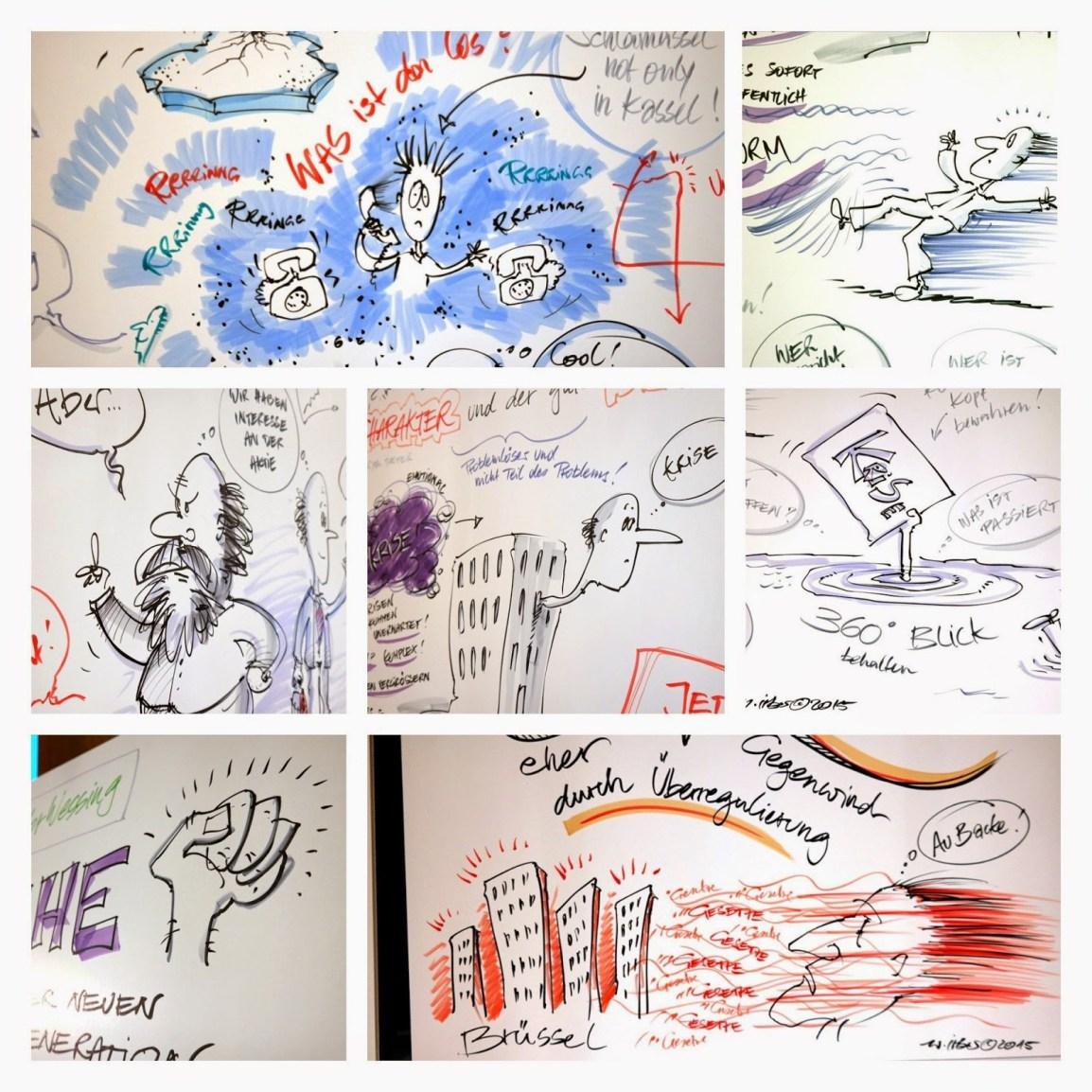 Graphic Recording auf einer Finanzveranstaltung in Frankfurt 2