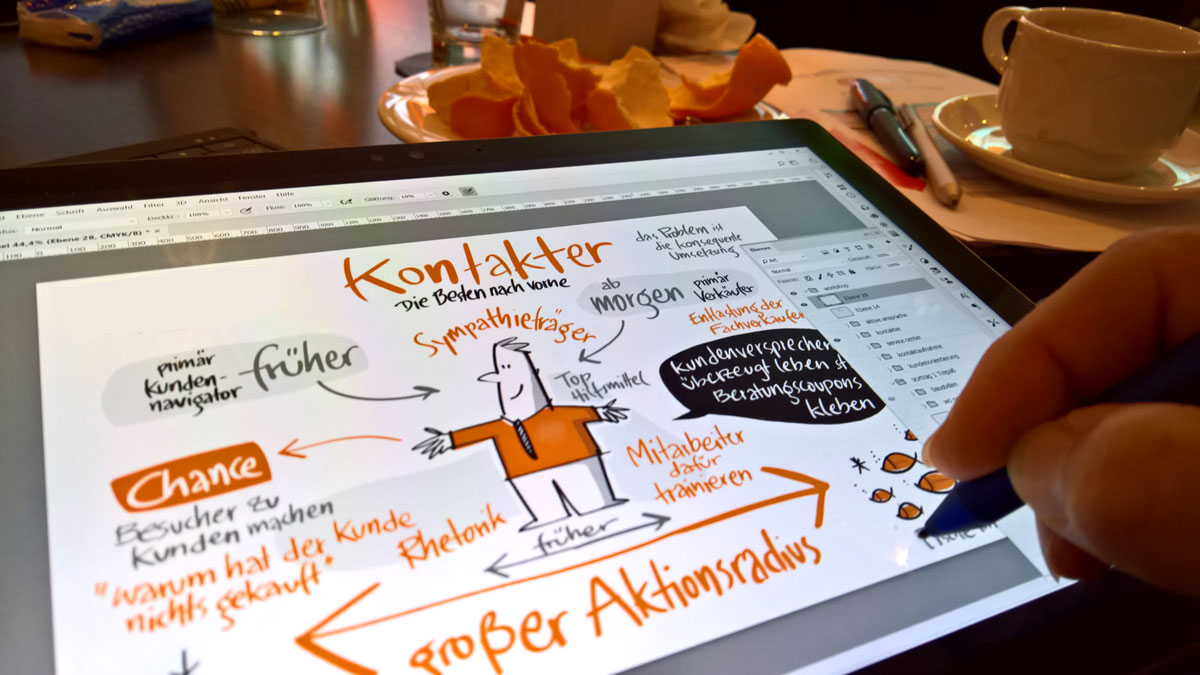digitales Graphic Recording auf dem Surface Pro 4