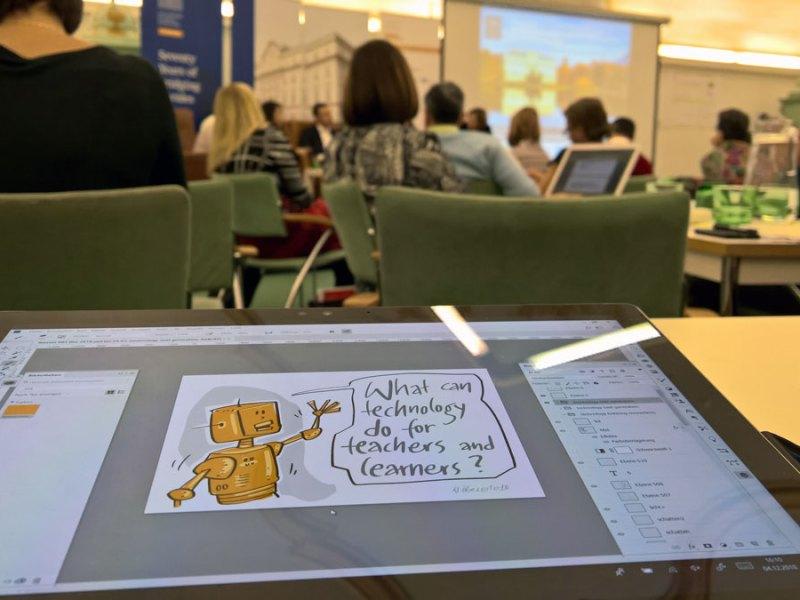 Meine digitale Bilderflut beim Graphic Recording in Salzburg und ein kurzer Moment der Berühmtheit auf Twitter 1