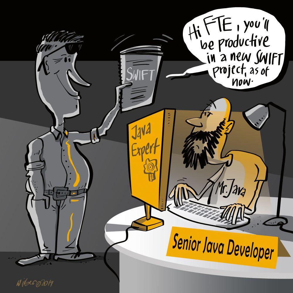 Chef verteilt neue Aufgabe an Java-Developer