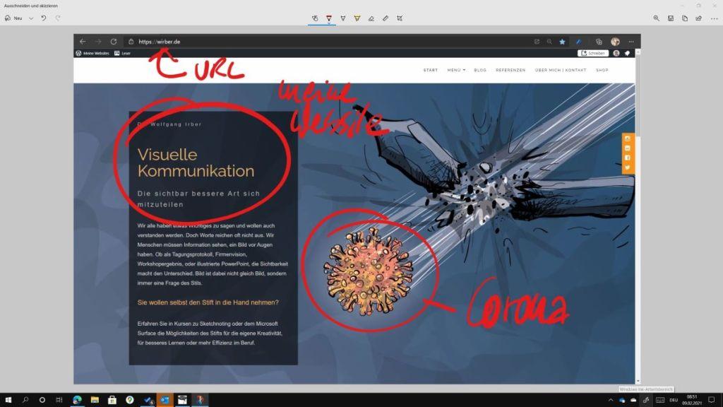 Zeichnen auf dem Microsoft Surface 10