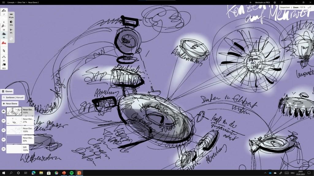 Zeichnen auf dem Microsoft Surface 16