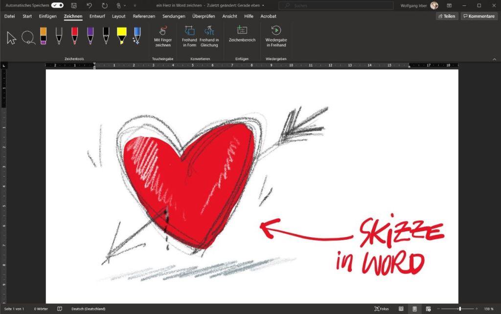 Zeichnen auf dem Microsoft Surface 14