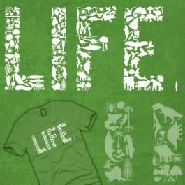 fun, funny, t-shirt, life, evolution, biodiversity, paleozoic, mesozoic, cenozoic, artistic
