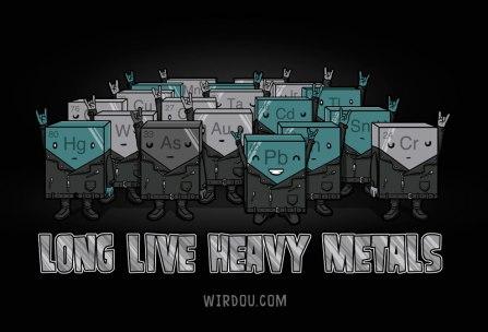 ciencia, humor, divertido, gracioso, science, fun, funny, metales pesados, heavy metals, rock, roll, elementos, química, chemistry