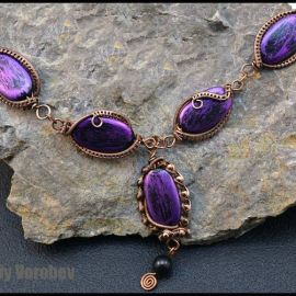 How to make wire wrapped necklace step by step