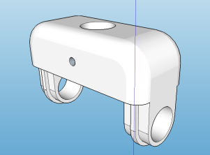 The 3D design for the base of the self-balancing robot.