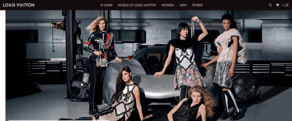 image of Louis Vuitton website