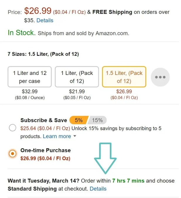 time limit amazon CTA