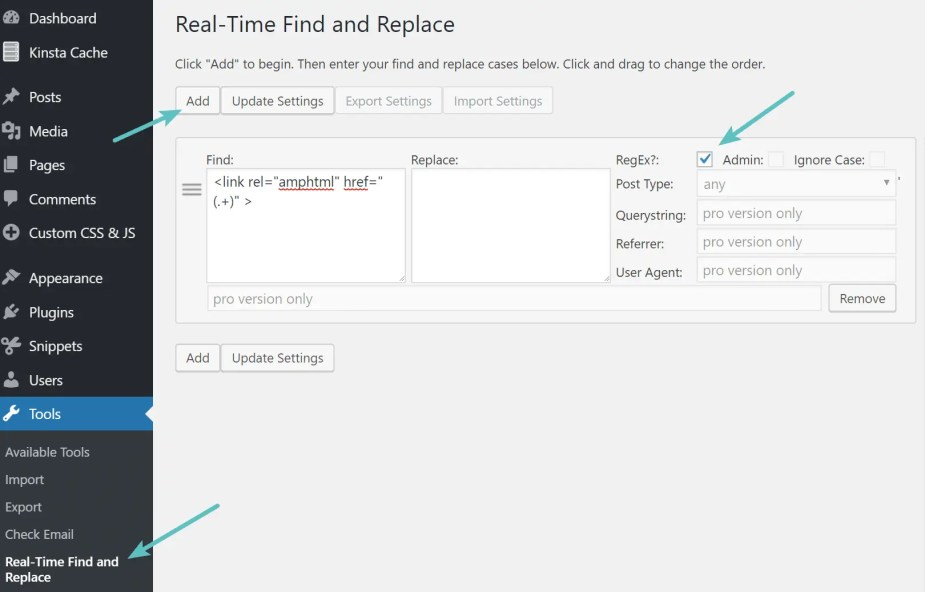 Regex in Real-time find and replace