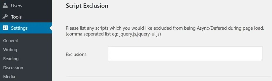 async exclusions
